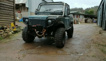 Re-built caged land rover 90 defender off road ready truck 300tdi