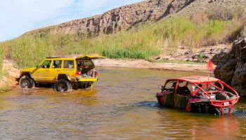 Where Was This RZR Going? Another Flooded River Crossing
