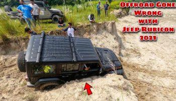 Jeep Wrangler Rubicon 2021 got stuck | Offroad gone wrong | Thar 2020, Maruti Gypsy ,Thar 700