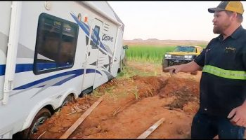 This Is Going To Take The Wrecker. Nasty Camper Rescue!