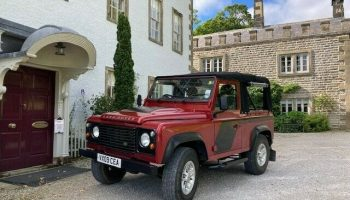Landrover Defender 90 TDCi Pick Up with soft top conversion